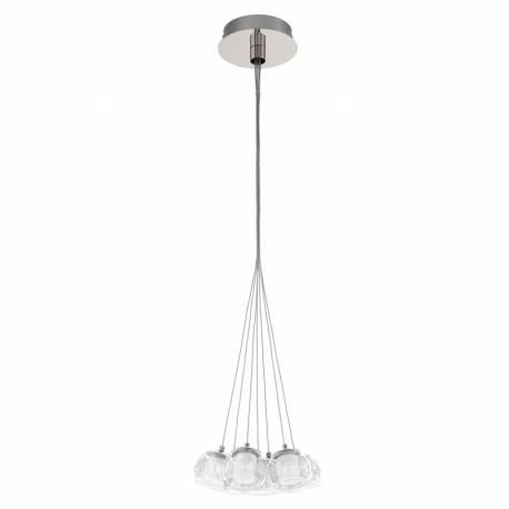 Пендел-висяща лампа LED 7х3,3W 2380lm хром/прозр./сат./DRAHT POLDRAS