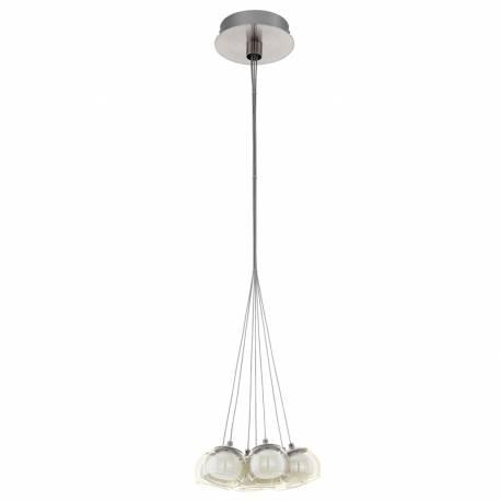 Пендел-висяща лампа LED 7х3,3W 2380lm никел-мат/кехл./бяло POLDRAS