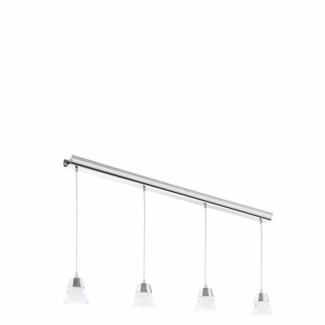 Пендел-висяща лампа LED 4х4,5W 1840lm хром/прозр.-сат. PANCENTO