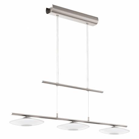 Пендел-висяща лампа LED 3х4,5W 1380lm никел-мат/бяло MILEA 1