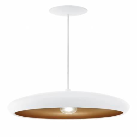 Пендел-висяща лампа 1хE27 Ø400 бяло/мед MOGANO 1