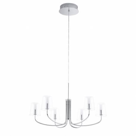 Пендел-висяща лампа LED 6х3,3W 2040lm хром/прозр.-бяло NOVENTA
