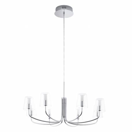 Пендел-висяща лампа LED 8х3,3W 2720 lm хром/прозр.-бяло NOVENTA