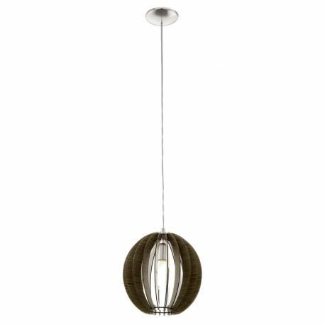 Пендел-висяща лампа 1хE27 Ø300 т.кафяво/никел-мат COSSANO