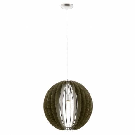 Пендел-висяща лампа 1хE27 Ø500 т.кафяво/никел-мат COSSANO