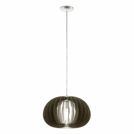 Пендел-висяща лампа 1хE27 Ø450 т.кафяво/никел-мат COSSANO