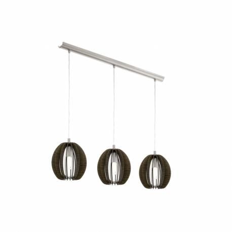 Пендел-висяща лампа 3хE14 т.кафяво/никел-мат COSSANO
