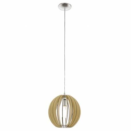 Пендел-висяща лампа 1хE27 Ø300 явор/никел-мат COSSANO