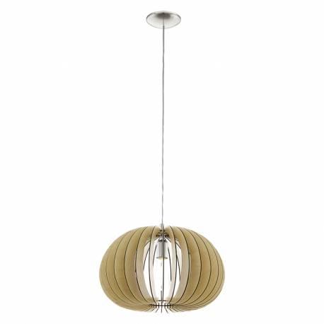 Пендел-висяща лампа 1хE27 Ø450 явор/никел-мат COSSANO
