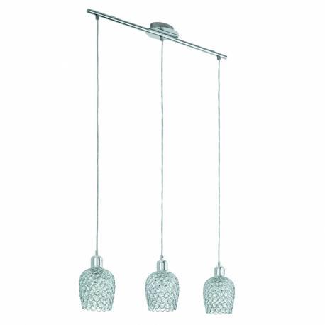 Пендел-висяща лампа 3хE27 хром/прозр. BONARES 1
