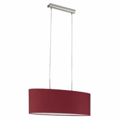 Пендел-висяща лампа 2хЕ27 L-750 никел-мат/марсала PASTERI