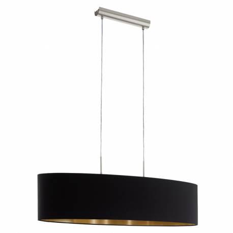 Пендел-висяща лампа 2хЕ27 L-1000 никел-мат/черно-мед PASTERI