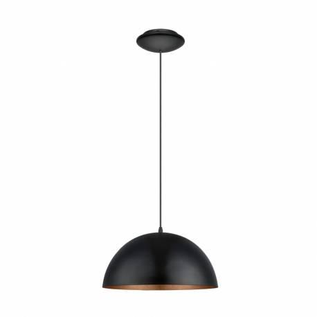 Пендел-висяща лампа 1хE27 Ø380 черно/медно GAETANO 1