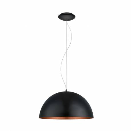 Пендел-висяща лампа 1хE27 Ø530 черно/медно GAETANO 1