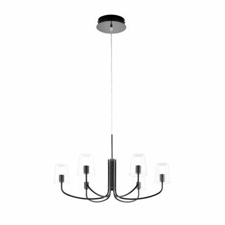 Пендел-висяща лампа LED 6х3,3W 2040lm черен никел/прозр.-бяло NOVENTA