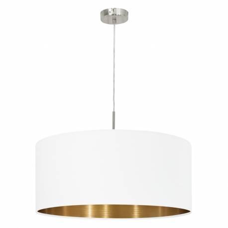 Пендел-висяща лампа 1хЕ27 Ø530 никел-мат/бяло-мед PASTERI