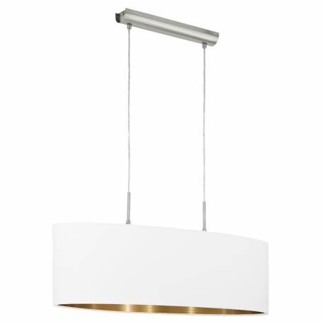 Пендел-висяща лампа 2хЕ27 L-750 никел-мат/бяло-мед PASTERI