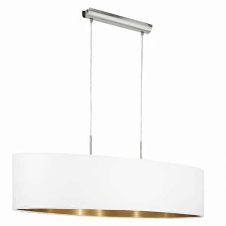 Пендел-висяща лампа 2хЕ27 L-1000 никел-мат/бяло-мед PASTERI