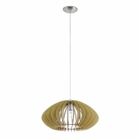 Пендел-висяща лампа 1хЕ27 Ø500 никел-мат/ клен елипса COSSANO 2