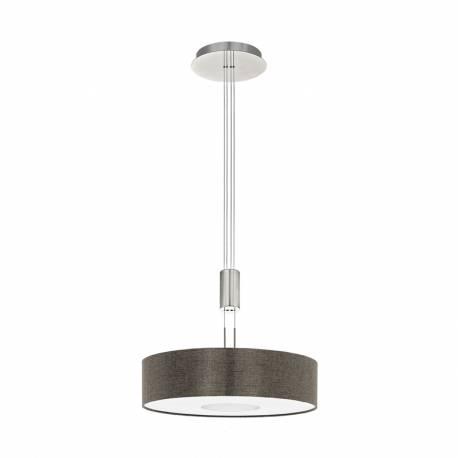 Пендел-висяща лампа LED 24W 2700lm Ø530 никел мат/кафяв ROMAO 2