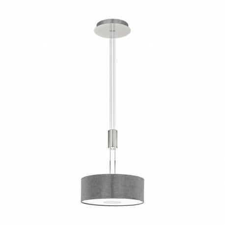 Пендел-висяща лампа LED 15,5W 1600lm Ø380 никел мат/сиво ROMAO