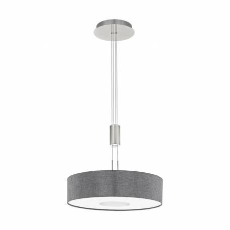 Пендел-висяща лампа LED 24W 2700lm Ø530 никел мат/сиво ROMAO