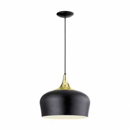 Пендел-висяща лампа 1хE27 черно/крем/мес. OBREGON