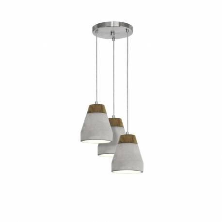 Пендел-висяща лампа 3хE27 кафяво/бетон TAREGA