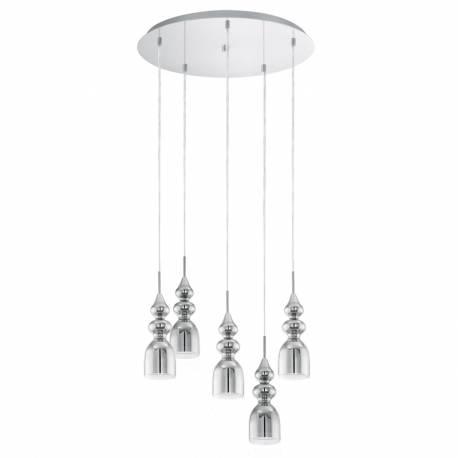 Пендел-висяща лампа 5хGU10 3,3W хром/прозр. BOLANOS