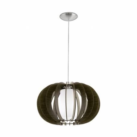 Пендел-висяща лампа 1 Ø500 т.кафяв/никел мат.цил.ст STELLATO 3