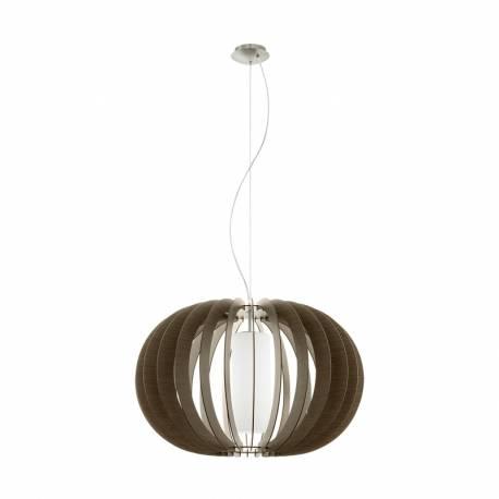 Пендел-висяща лампа 1 Ø700 т.кафяв/никел мат.цил.ст STELLATO 3