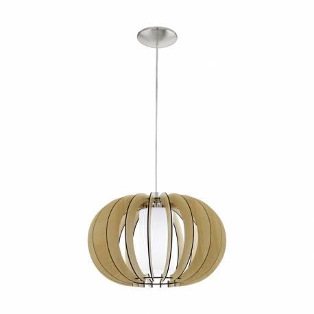 Пендел-висяща лампа 1хE27 Ø400 явор/никел-мат цил.ст STELLATO 1