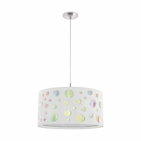 Пендел-висяща лампа 1хE27 хром/бяло MONEDA