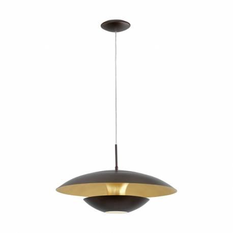 Пендел-висяща лампа 1хE27 индир.кафяво/златно NUVANO