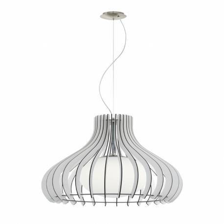 Пендел-висяща лампа 1хE27 Ø500 бяло/никел-мат сфер.ст TINDORI