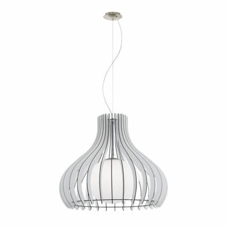 Пендел-висяща лампа 1хE27 Ø600 бяло/никел-мат сфер.ст TINDORI