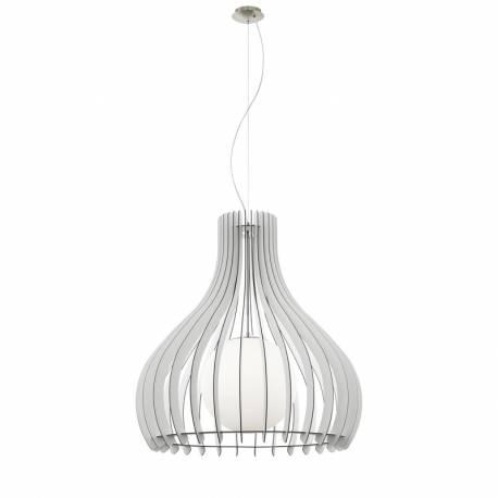Пендел-висяща лампа 1хE27 Ø800 бяло/никел-мат сфер.ст TINDORI