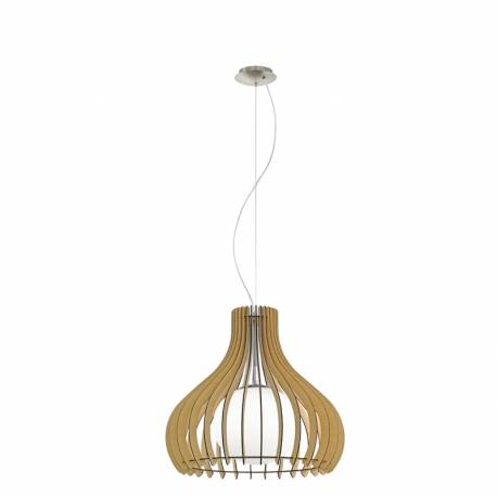 Пендел-висяща лампа 1хE27 Ø500 явор/никел-мат сфер.ст TINDORI