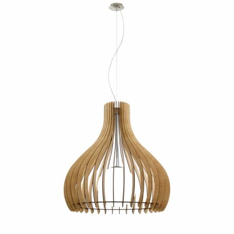 Пендел-висяща лампа 1хE27 Ø800 явор/никел-мат сфер.ст TINDORI