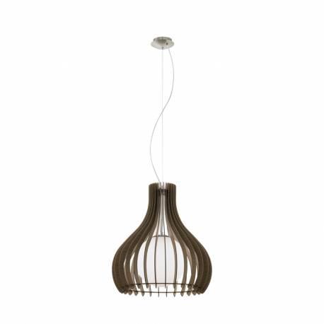 Пендел-висяща лампа 1хE27 Ø500 тъмнокаф./никел-мат сфер.ст TINDORI