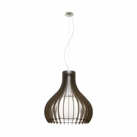 Пендел-висяща лампа 1хE27 Ø600 тъмнокаф./никел-мат сфер.ст TINDORI