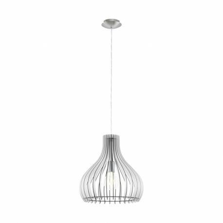 Пендел-висяща лампа 1хE27 Ø380 бяло/никел-мат TINDORI