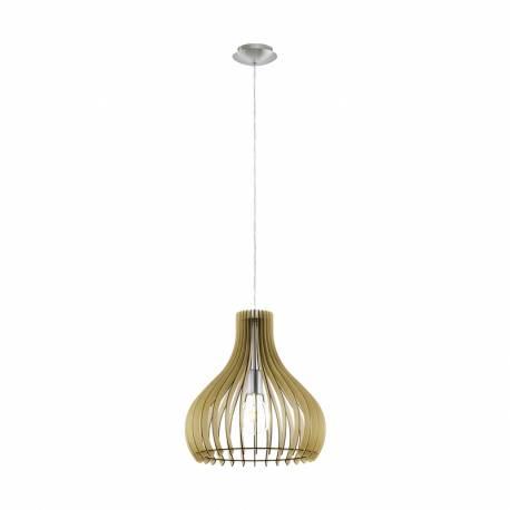 Пендел-висяща лампа 1хE27 Ø380 явор/никел-мат TINDORI