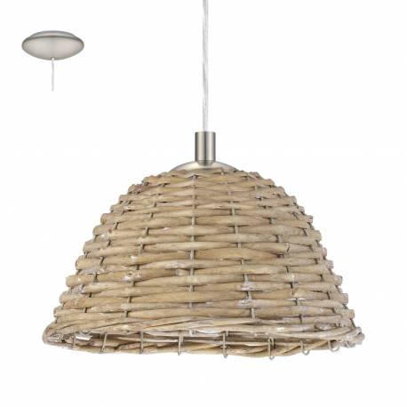 Пендел-висяща лампа 1хE27 Ø260 никел-мат/сиво лико CAMPILO 2