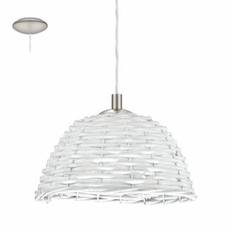 Пендел-висяща лампа 1хE27 Ø260 никел-мат/бяло лико CAMPILO 2
