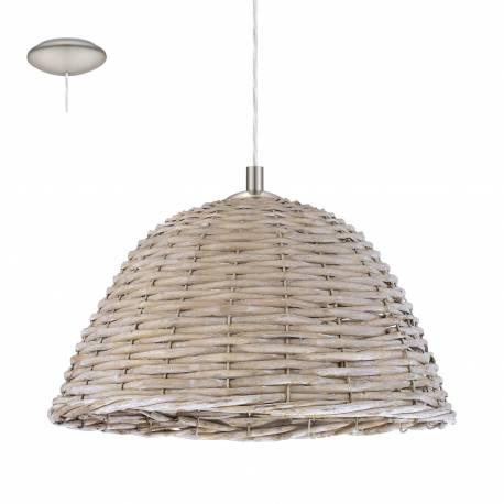 Пендел-висяща лампа 1хE27 Ø360 никел-мат/сиво лико CAMPILO 2