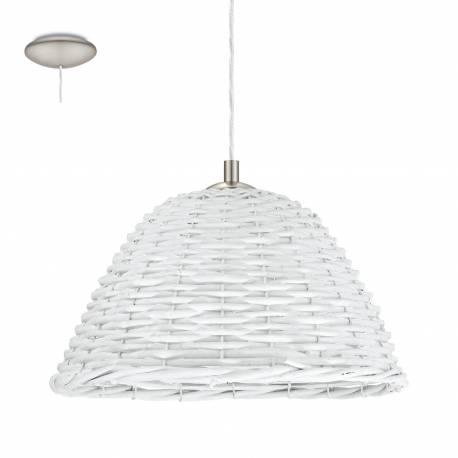 Пендел-висяща лампа 1хE27 Ø360 никел-мат/бяло лико CAMPILO 2