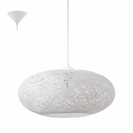 Пендел-висяща лампа 1хE27 Ø450 бяло сплетени текст.нишки CAMPILO