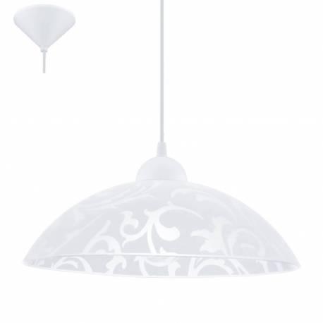 Пендел-висяща лампа 1хЕ27 Ø350 бял декор VETRO