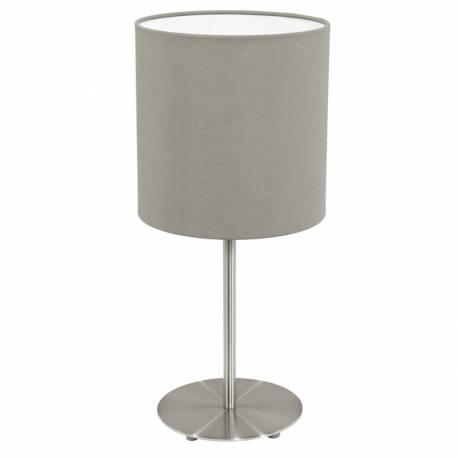 Настолна лампа 1хE27 никел-мат/сиво-кафяво PASTERI